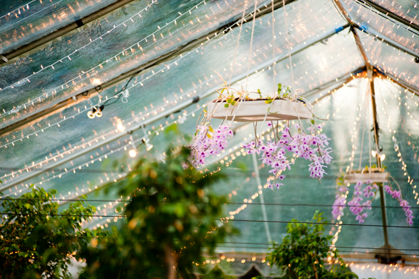 Orchids and live trees for a spring wedding by destination wedding planner Mango Muse Events
