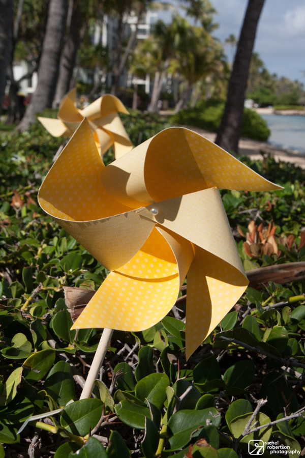 Pinwheels for a spring wedding by destination wedding planner Mango Muse Events
