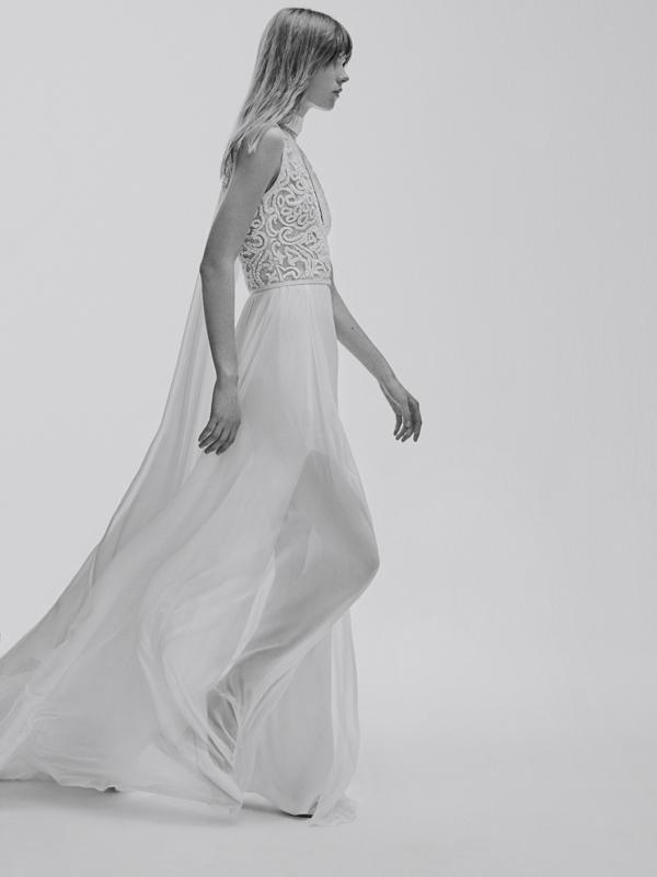 Airy wedding dress by Elie Saab bridal from Bridal Fashion Week Best wedding dresses picked by Destination wedding planner, Mango Muse Events
