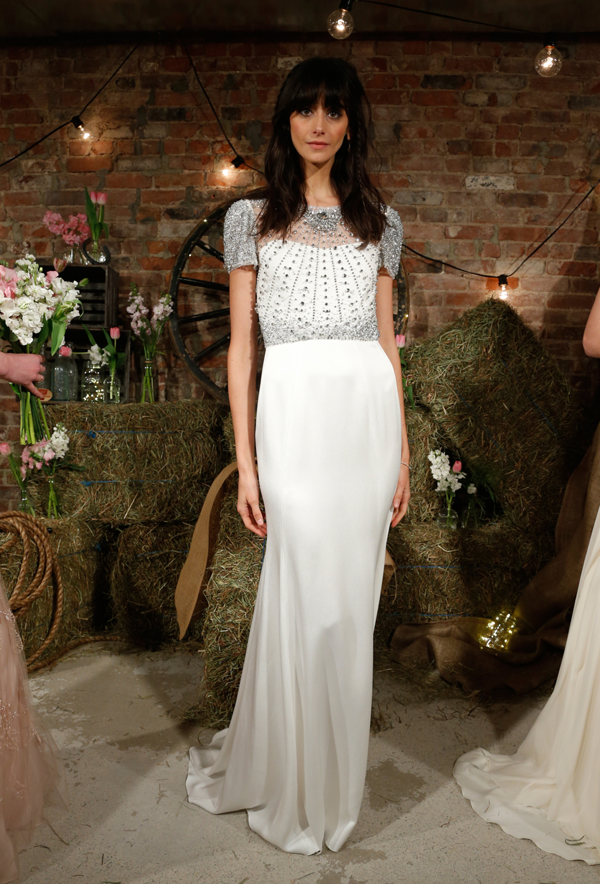 Beaded wedding dress by Jenny Packham bridal from Bridal Fashion Week Best wedding dresses picked by Destination wedding planner, Mango Muse Events