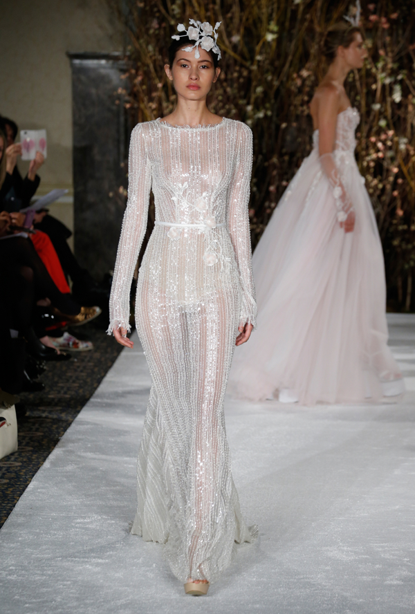 Beaded wedding dress by Mira Zwillinger bridal from Bridal Fashion Week Best wedding dresses picked by Destination wedding planner, Mango Muse Events