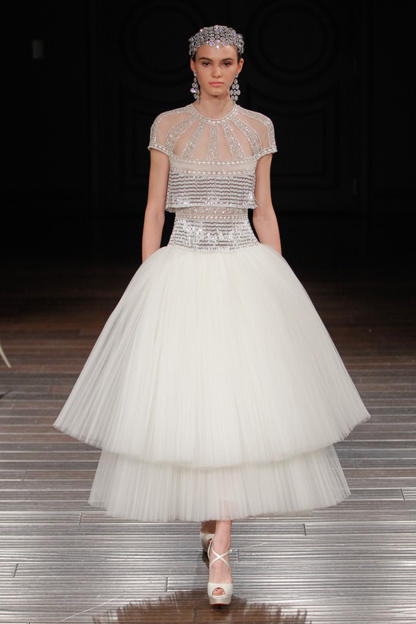 Beaded Wedding Dress By Naeem Khan Bridal From Fashion Week Best Dresses Picked