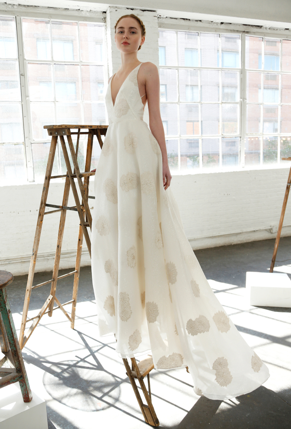 55d9f749603 Floral print wedding dress by Lela Rose bridal from Bridal Fashion Week  Best wedding dresses picked