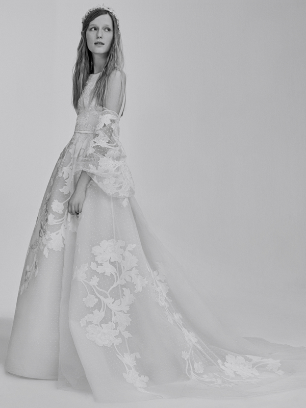 Floral wedding dress by Elie Saab bridal from Bridal Fashion Week Best wedding dresses picked by Destination wedding planner, Mango Muse Events